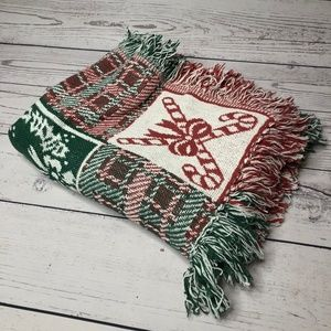 Vintage Christmas Fringe Woven Throw/Blanket